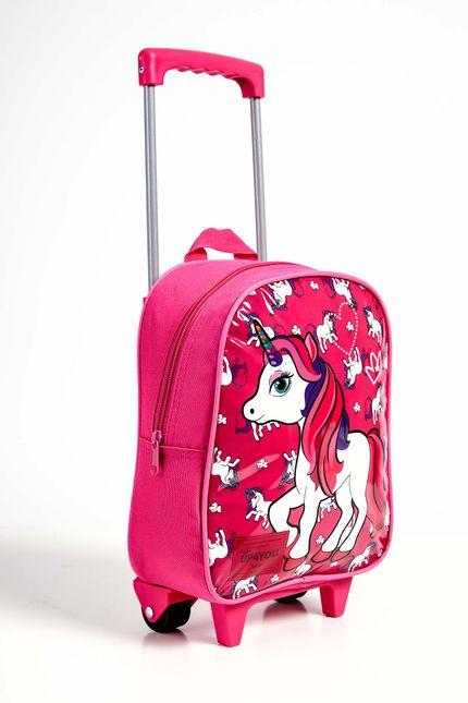 Mochila-Rodinhas-Menina-Luxcel-Unicornio-Pink