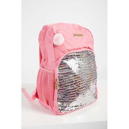 Mochila-Casual-Menina-Santino-Lantejoula-Pink