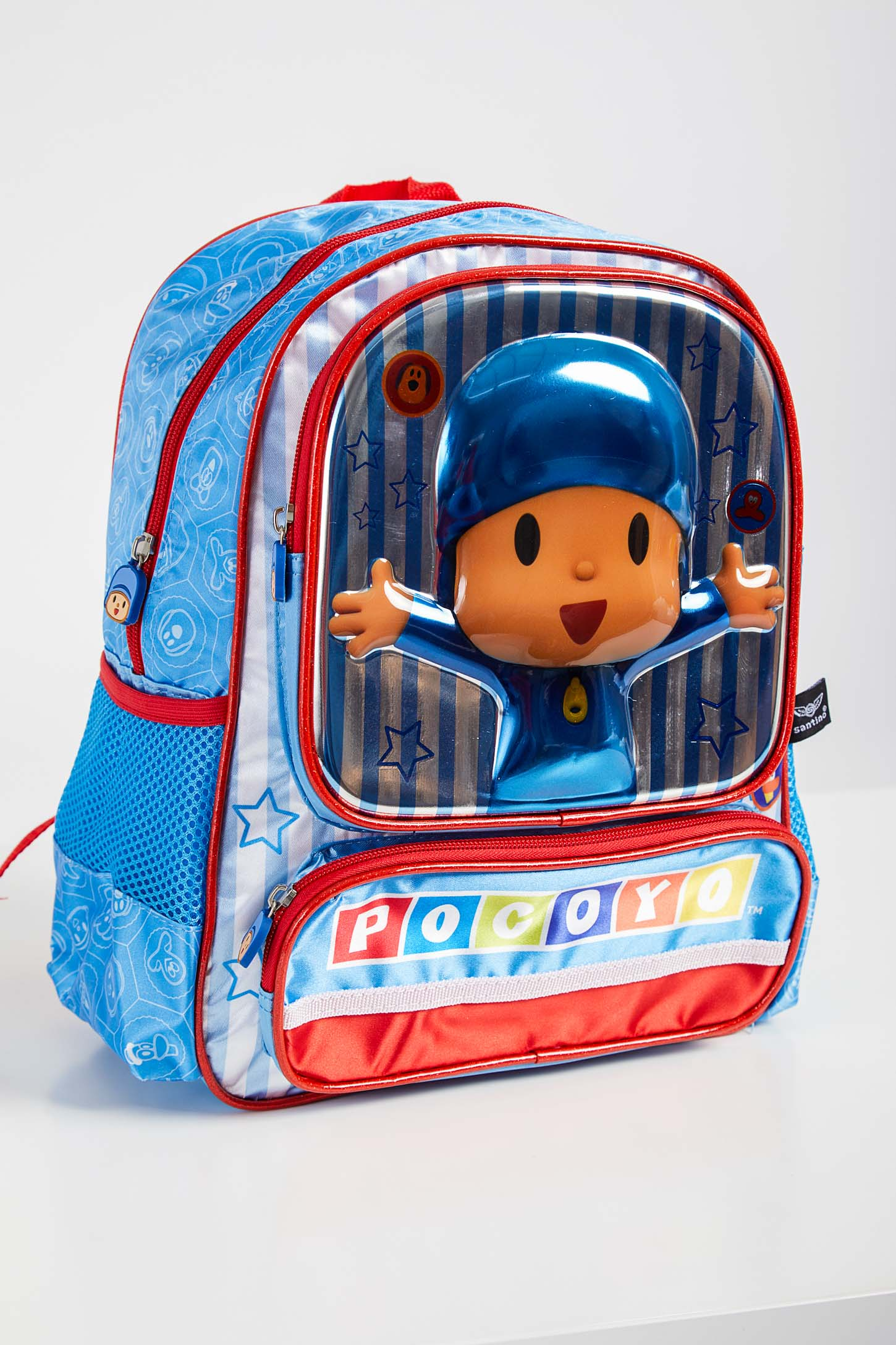 Mochila-Escolar-Infantil-Santino-Pocoyo-Azul