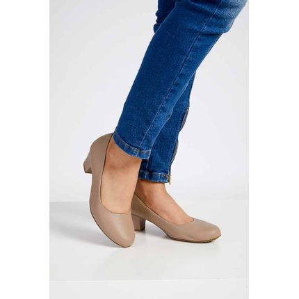 Sapato-Salto-Bloco-Feminino-Piccadily-Bege