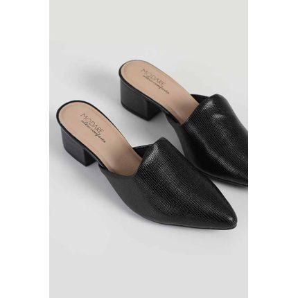 Sapato-Feminino-Mule-Com-Salto-Modare-Preto