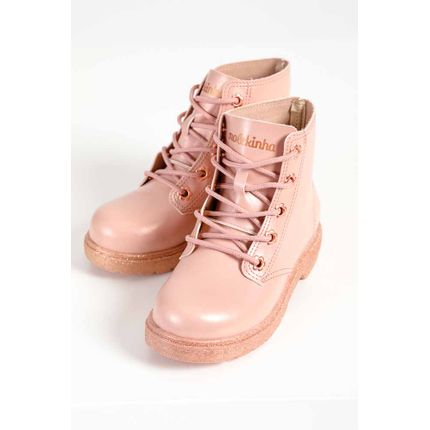 Bota-Coturno-Infantil-Menina-Molekinha-Glitter-Rosa