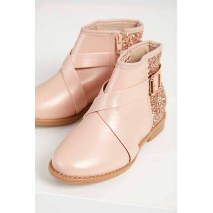 Bota-Ankle-Boots-Infantil-Menina-Molekinha-Glitter-Rosa