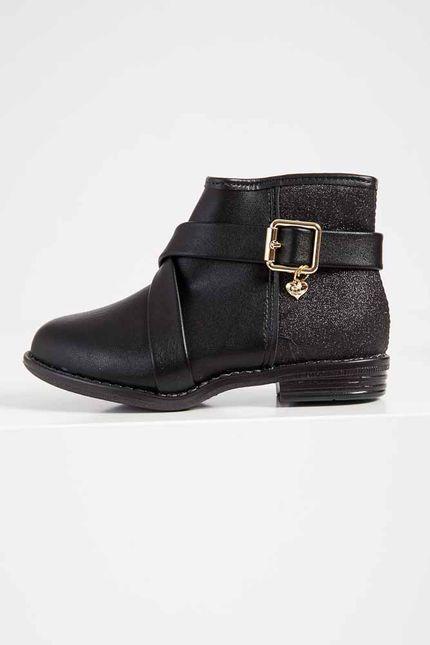 Bota-Ankle-Boots-Infantil-Menina-Molekinha-Glitter-Preto