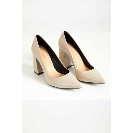 Sapato-Scarpin-Feminino-Cecconello-Verniz-Bege