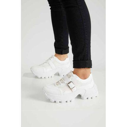 Tenis-Dad-Sneakers-Feminino-Cha-De-Mel-Fivela-Branco