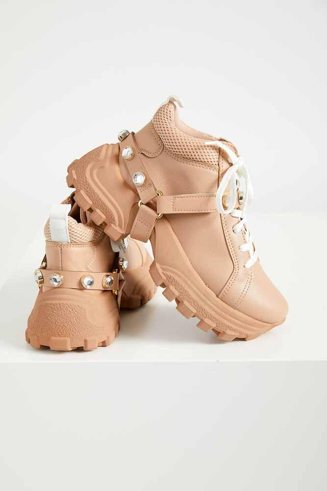 Tenis-Dad-Sneakers-Feminino-Cha-De-Mel-Pedras-Removivel-Rosa