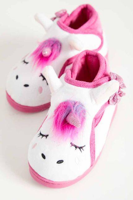 Pantufa-Conforto-Infantil-Menina-Liang-Unicornio-C5085-Branco