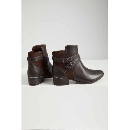 Bota-Ankle-Boot-Feminina-Comfortflex-Fivela-Marrom