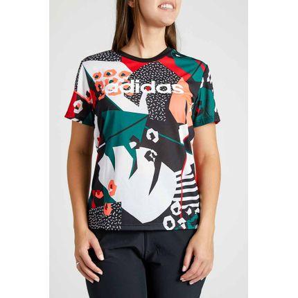 Camiseta-Casual-Feminina-Farm-Adidas-Preto