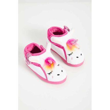 Pantufa-Infantil-Menina-Liang-Unicornio-C5085-Branco