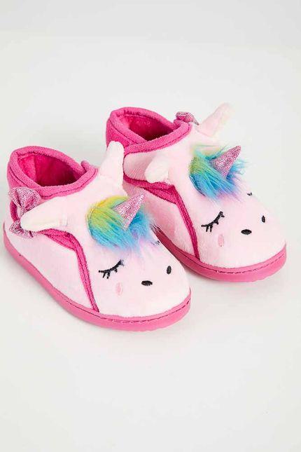 Pantufa-Infantil-Menina-Liang-Unicornio-C5085-Rosa