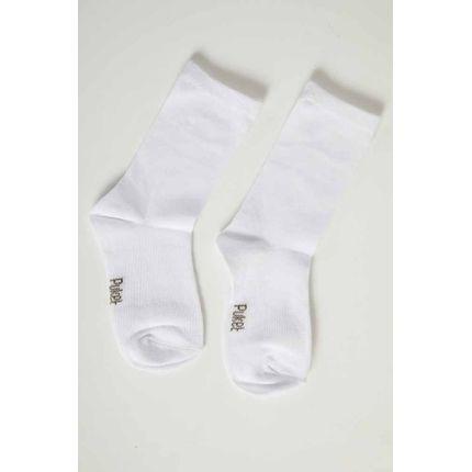 Meia-Casual-Infantil-Unissex-Puket-Branco