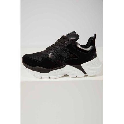 Tenis-Casual-Feminino-Dad-Sneaker-Via-Marte-20-2301-Preto