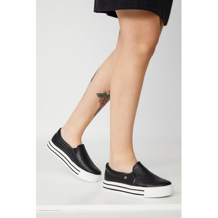 Tenis-Casual-Feminino-Slip-On-Via-Marte-20-10409-Preto