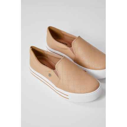 Tenis-Casual-Feminino-Slip-On-Via-Marte-20-10469-Bege