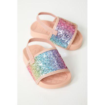 Chinelo-Slide-Infantil-Menina-Molekinha-Glitter-Multicolorido