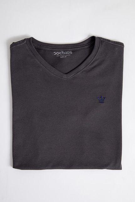 Camiseta-Casual-Masculina-Docthos-623-Chumbo