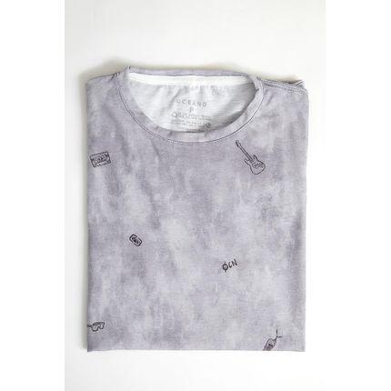 Camiseta-Casual-Masculina-Oceano-101431-Cinza