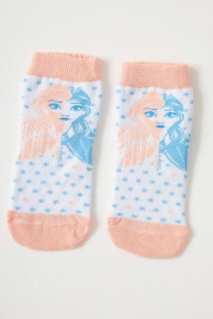Meia-Casual-Infantil-Menina-Lupo-Frozen-Branco