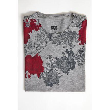 Camiseta-Casual-Masculina-Bgo-321245-Floral-Cinza