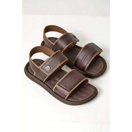Sandalia-Masculina-Casual-Cartago-Marrom