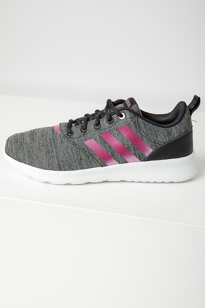 Tenis-Caminhada-Feminino-Adidas-Qt-Racer-Cinza