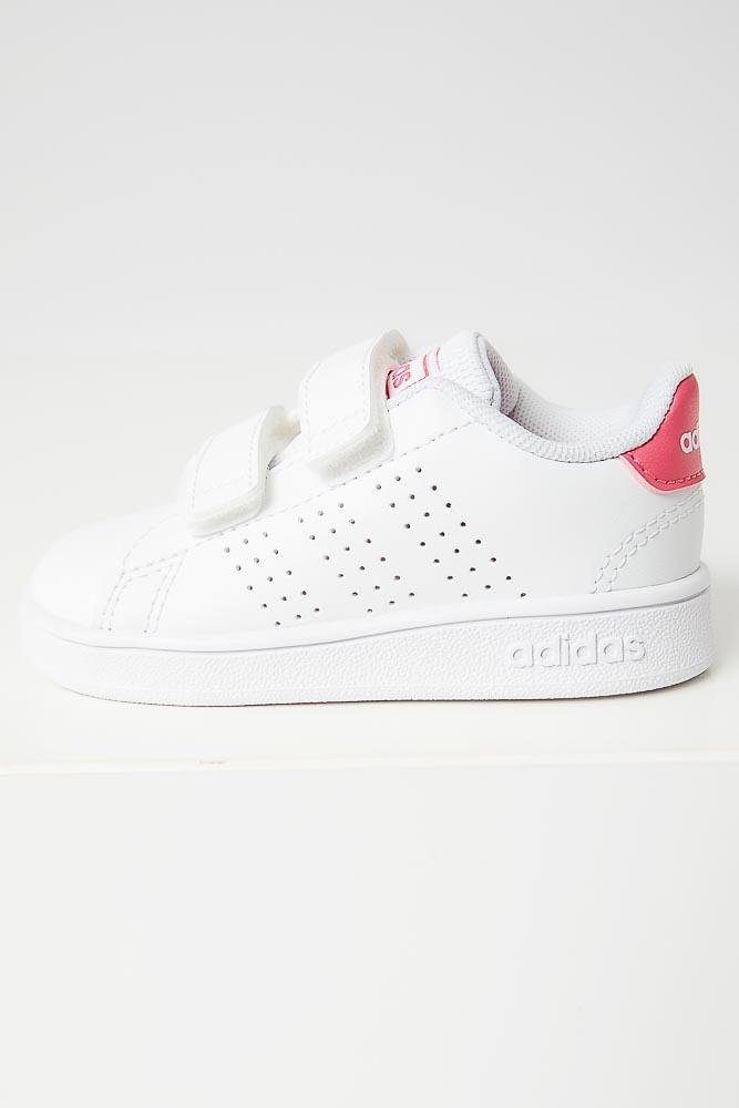 Tenis-Casual-Infantil-Menina-Adidas-Advantage-Branco