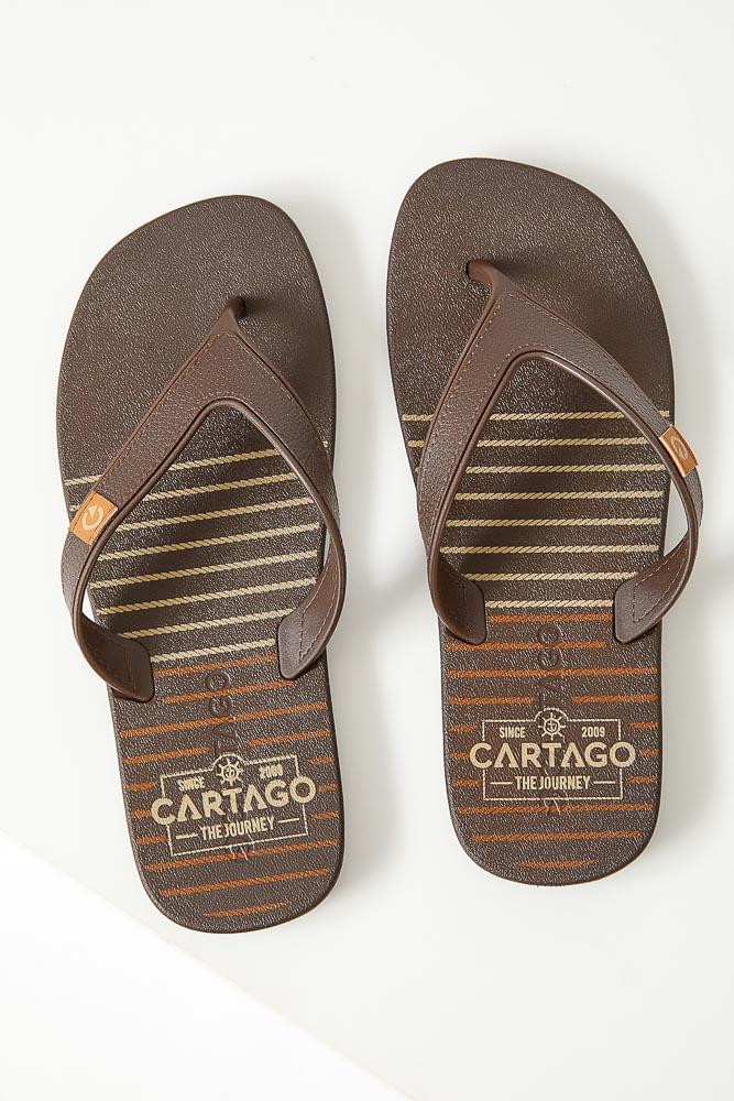 Chinelo-Masculino-De-Dedo-Casual-Cartago-10738-22028-Marrom