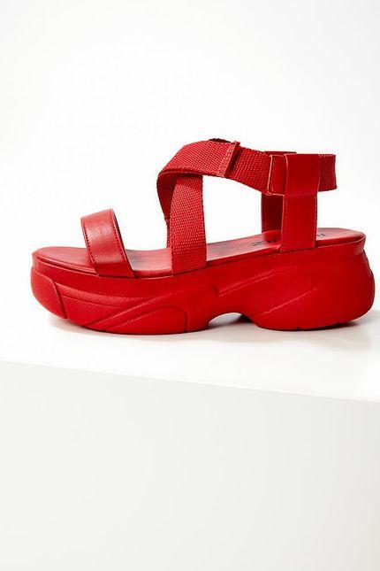 Sandalia-Casual-Feminina-Flatform-Quiz-66-1813-09-Vermelho
