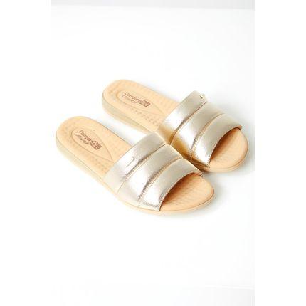 Chinelo-Conforto-Feminino-Comfortflex-Metalizado-Ouro