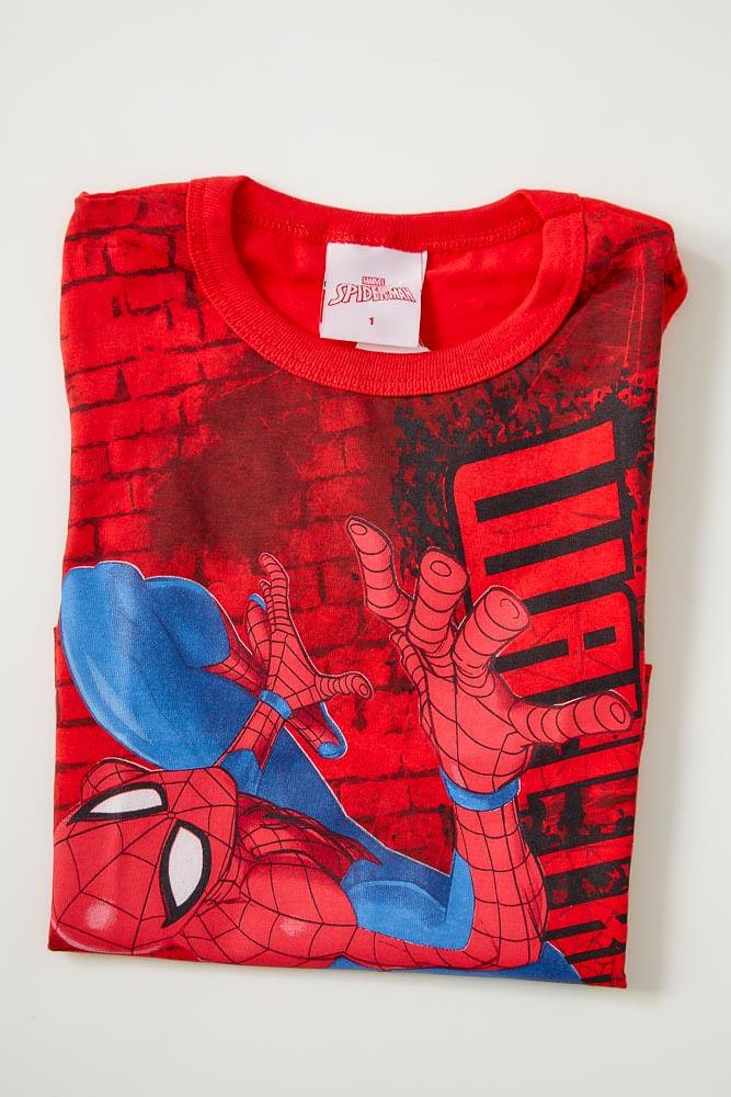 Camiseta-Casual-Manga-Curta-Brandili-Homem-Aranha-Vermelho