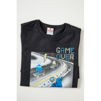Camiseta-Casual-Manga-Curta-Brandili-Game-Over-Preto