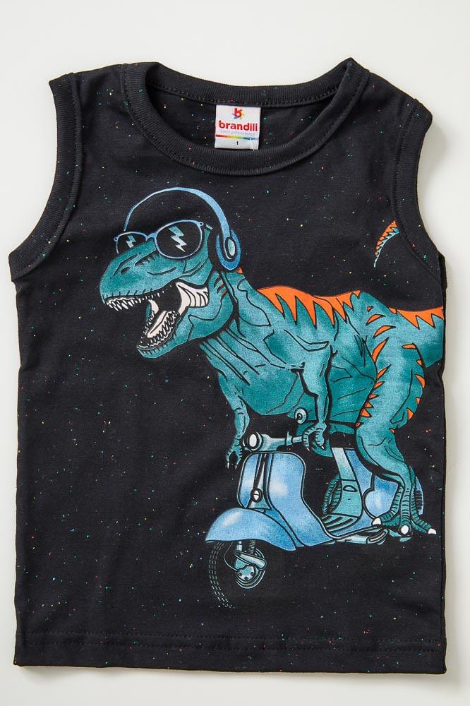 Camiseta-Regata-Infantil-Menino-Brandili-Dinossauro-Preto