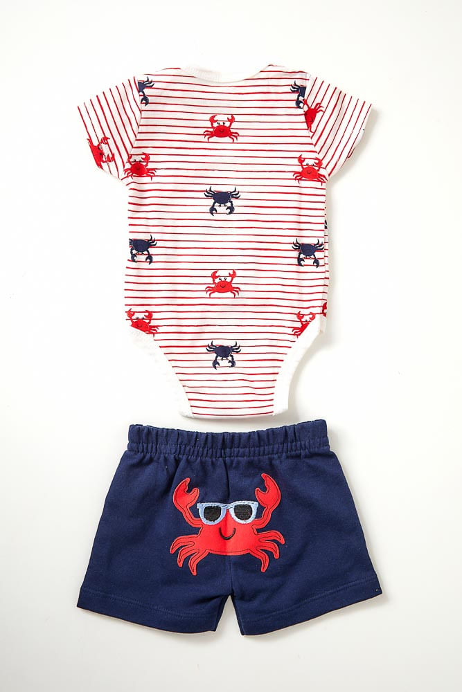 Conjunto-Body-E-Shorts-Bebe-Unissex-Brandili-Carangueijo-Vermelho