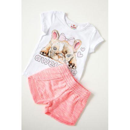 Conjunto-Shorts-E-Blusa-Bebe-Menina-Brandili-Dog-Branco