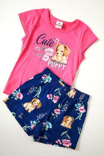 Conjunto-Shorts-E-Blusa-Infantil-Menina-Brandili-Dog-Rosa