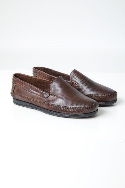 Sapato-Mocassim-Masculino-Couro-Granado-401-Marrom
