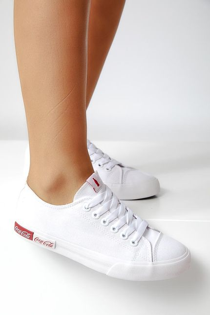 Tenis-Casual-Feminino-Coca-Cola-Blend-Canvas-Branco-