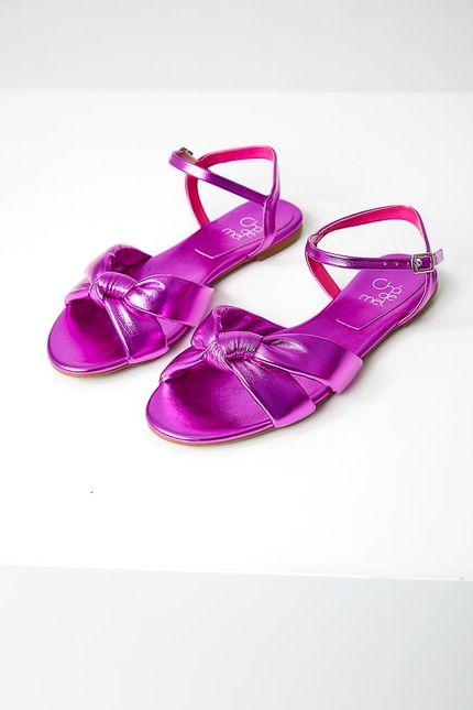 Sandalia-Rasteira-Feminina-Cha-De-Mel-3023.6406-Metalizada-Pink-