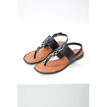 Sandalia-Feminina-Rasteira-Dakota-Z7612-06-Pedras-Preto