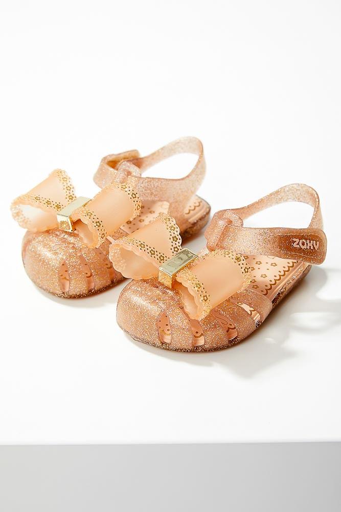 Sandalia-Rasteira-Infanti-Menina-Zaxynina-18191-Glitter-Nude