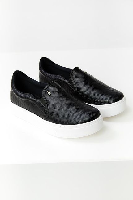 Tenis-Casual-Feminino-Slip-On-Via-Marte-20-11809-Preto