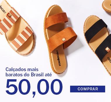 Calçado mais barato do Brasil até 50,00