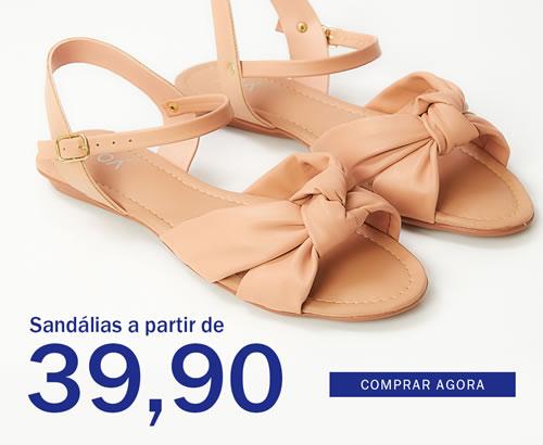 Sandálias a partir de 39,90