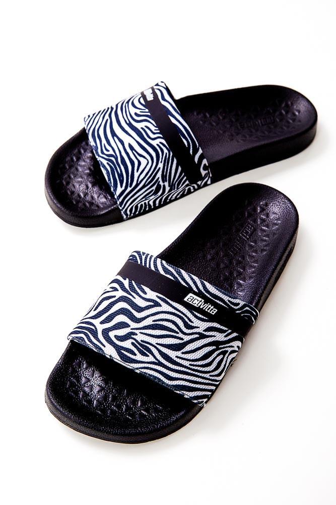 Chinelo-Slide-Feminino-Activitta-Zebra-Preto