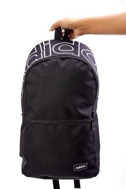 Mochila-Unissex-Adidas-Linear-Classic-Daily-Preto