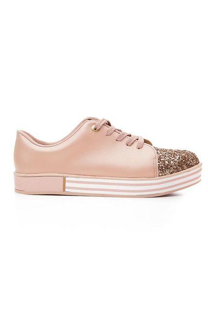 Tenis-Casual-Juvenil-Menina-Molekinha-Glitter-Rosa