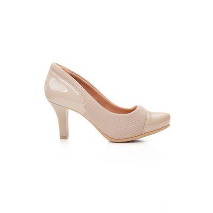 Sapato-Feminino-Salto-Medio-Comfortflex-Verniz-Nude