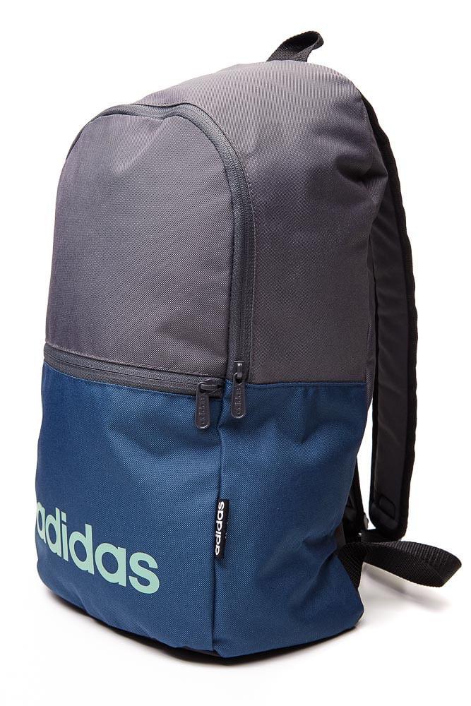 Mochila-Esportiva-Unissex-Adidas-Linear-Cinza